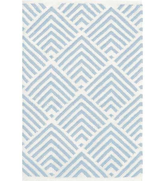 Dash \ Albert Teppich Cleo blau Teppiche, Kissen \ Wandbehang - blauer teppich wohnzimmer