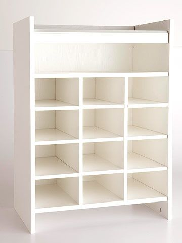 Before: Shoe Cubbies This Open Cabinet Normally Corrals Footwear, But It  Can Be A