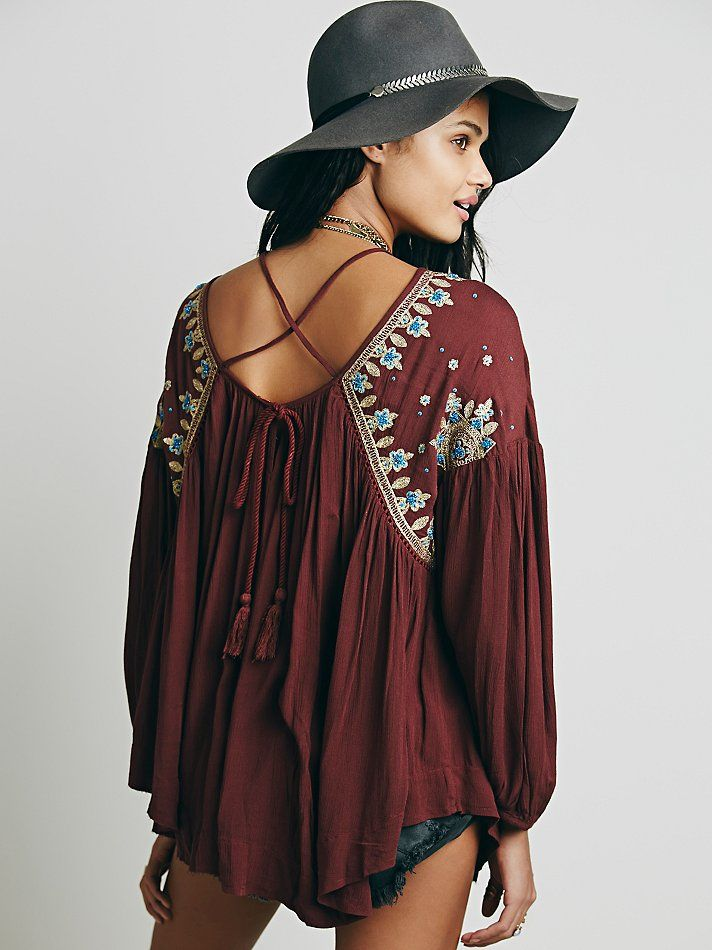 Free People Embellished Strappy Back Tunic at Free People Clothing Boutique