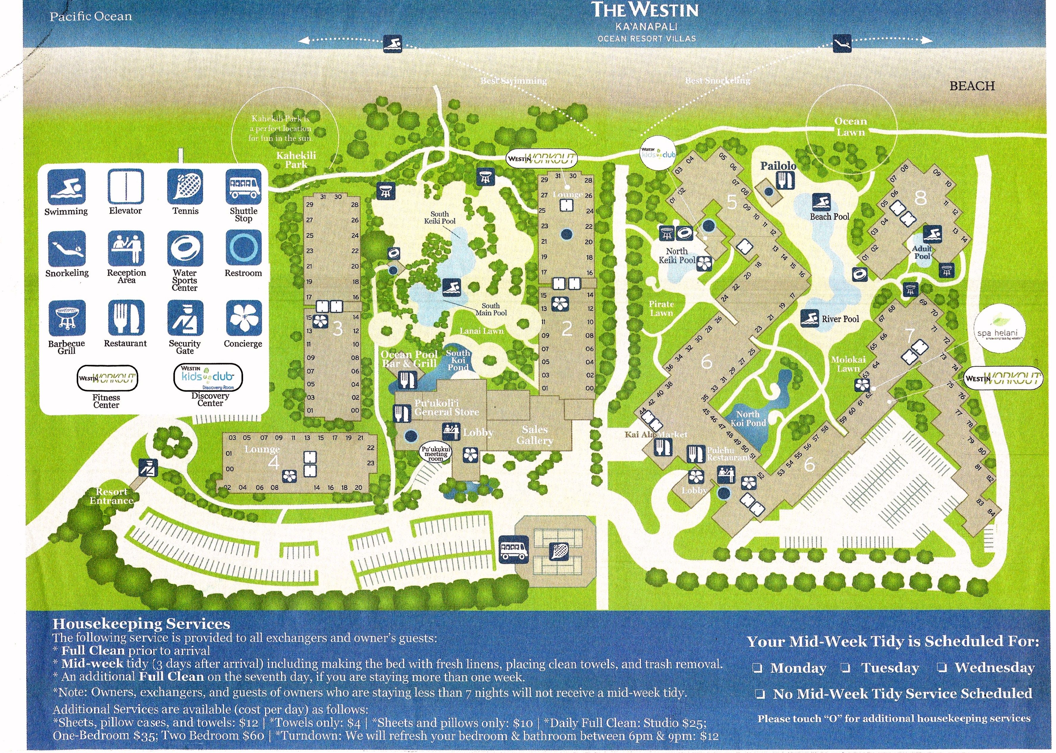Westin Kaanapali Ocean Resort Villas Map