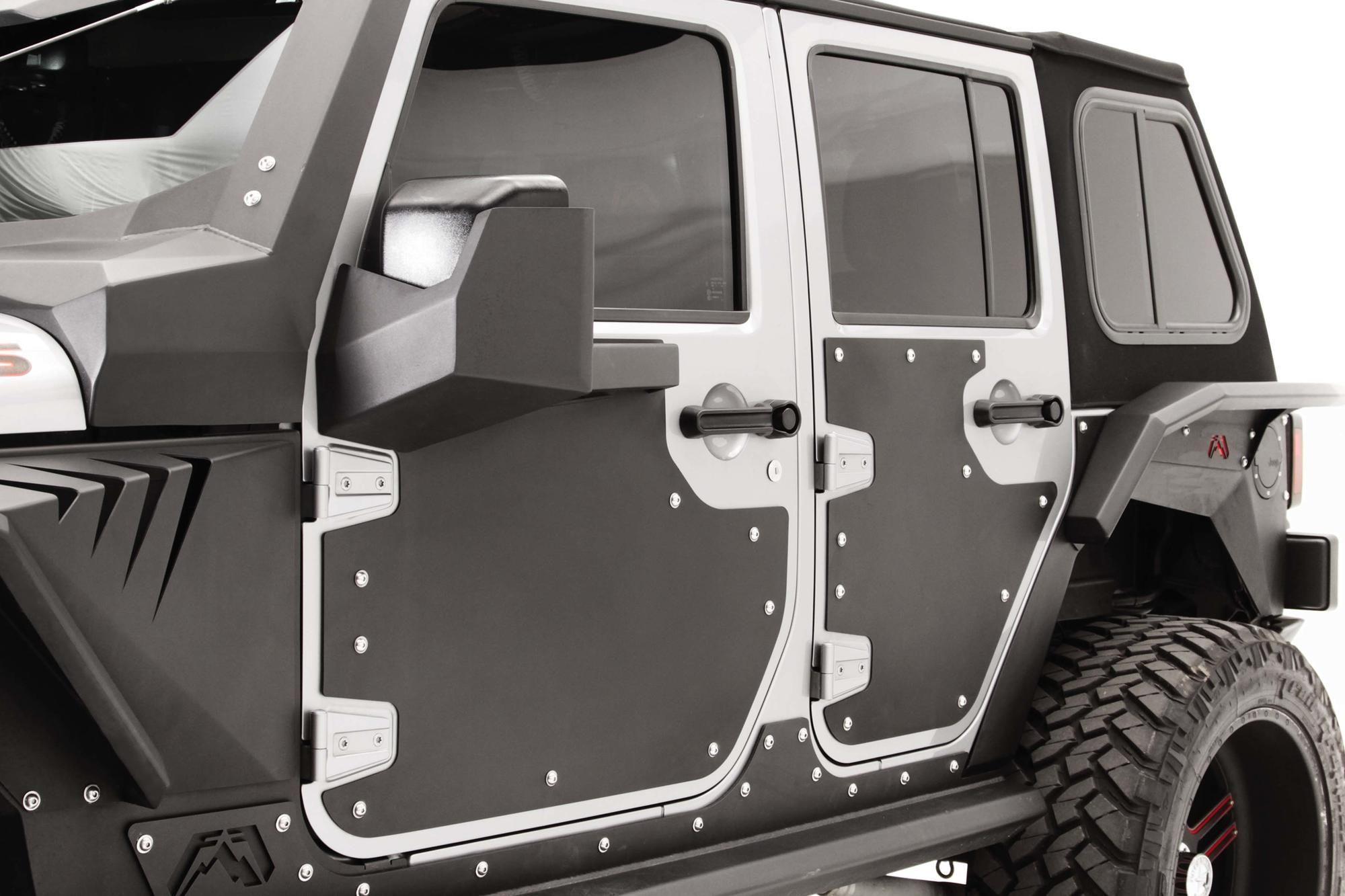 RRC,07-16 Jeep Wrangler JKU Rugged Ridge 11504.25 Side Armor Guard Plate