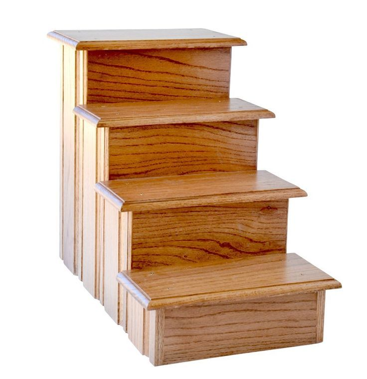 Best Premier Cat Steps Tall Raised Panel Dog Steps Solid Oak 640 x 480