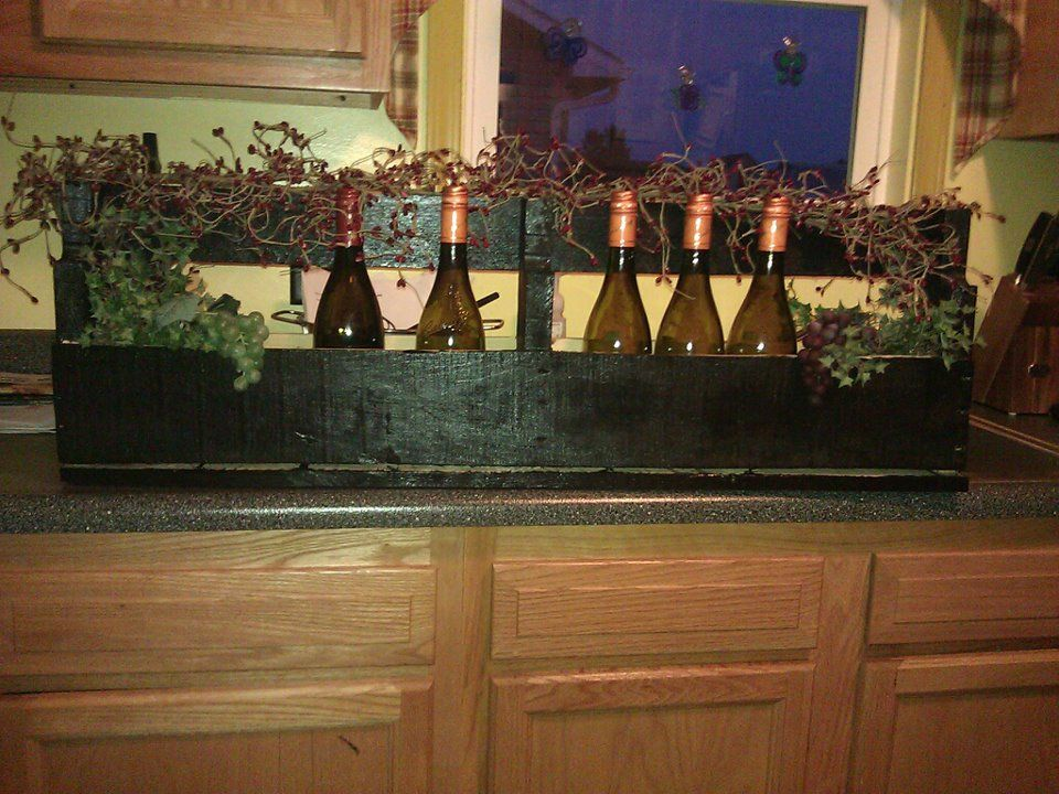 wine rack I made inspired from pinterest   Home, Home decor