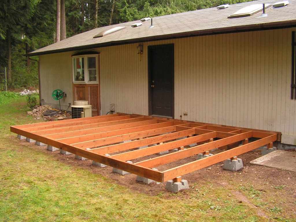 Captivating How To Build A Deck Using Deck Blocks (diy Patio Concrete)