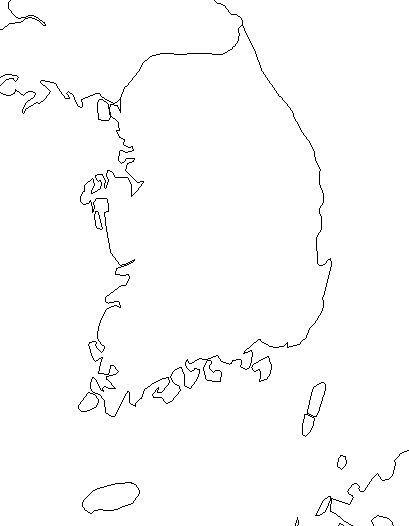 South Korea Map Outline Geography | Korea map, World cultures, South korea