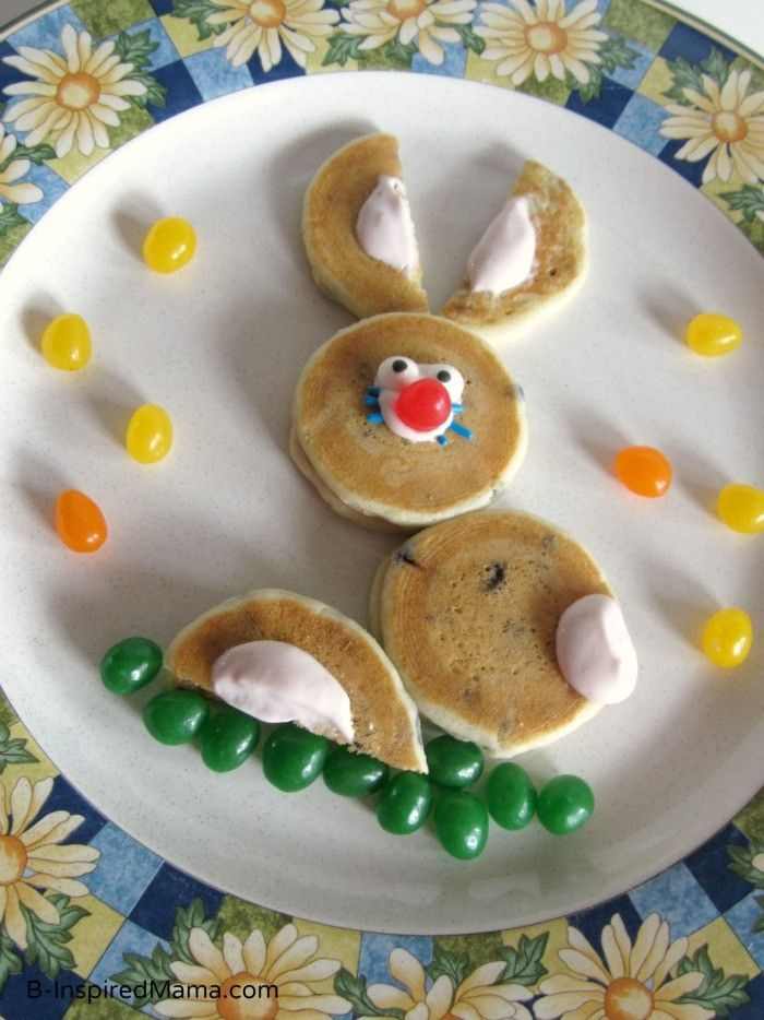 Easy Easter Bunny Breakfast Pancakes Recipe Holiday Food Decorating For Kids DIY