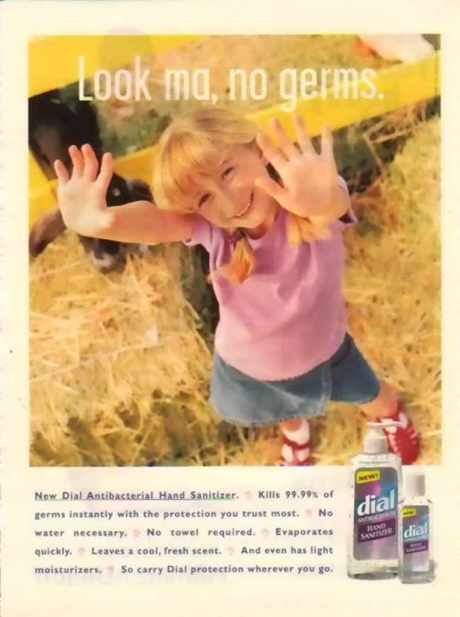 Dial Hand Soap Kids In Advertising Look Ma No Germs 1997