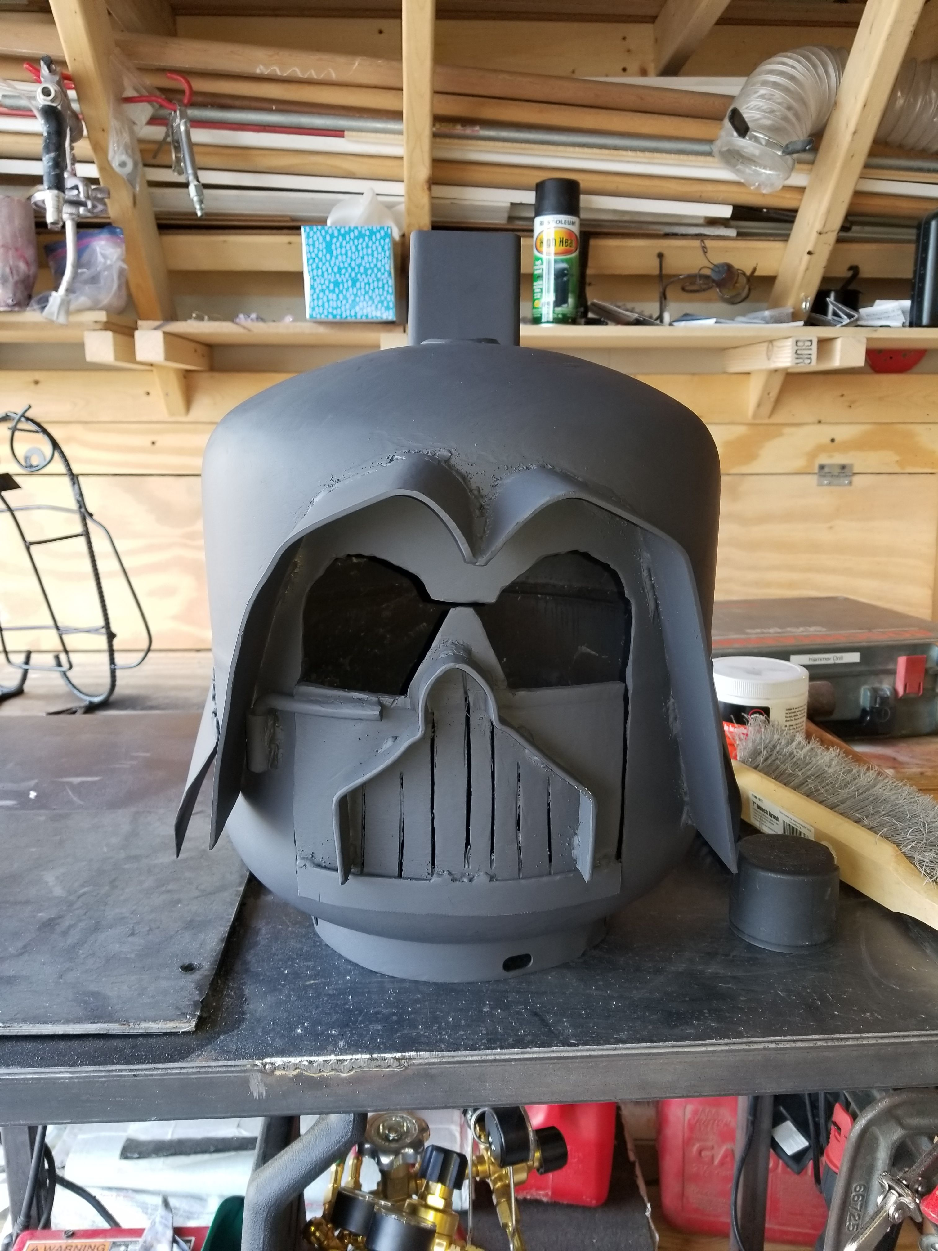 My Version Of The Darth Vader Fire Pit From An Old Propane