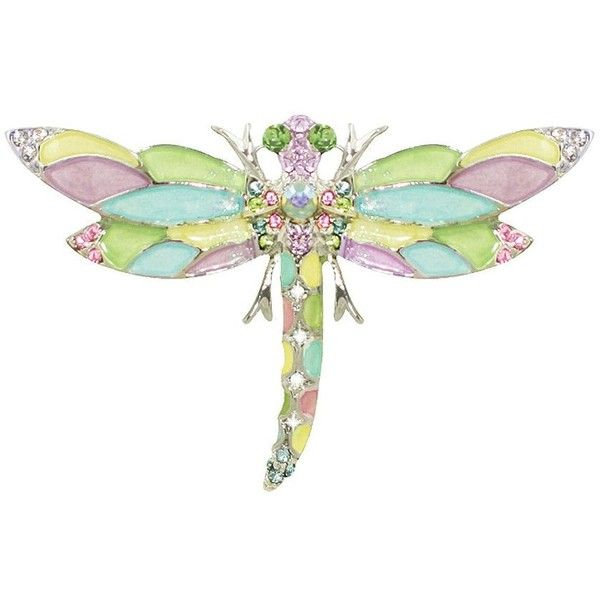 Harlequin Pastel Enamel and Swarovski Crystal Silver Tone Dragonfly... (1,035 MXN) ❤ liked on Polyvore featuring jewelry, brooches, silvertone jewelry, swarovski crystal jewellery, dragonfly jewelry, enamel jewelry and swarovski crystal brooch