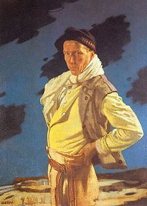 William Orpen The Man from Aran - self portrait 1909