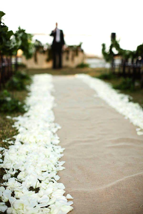Burlap Jute Natural Hemp Rustic Wedding Aisle Runner 25ft X 60