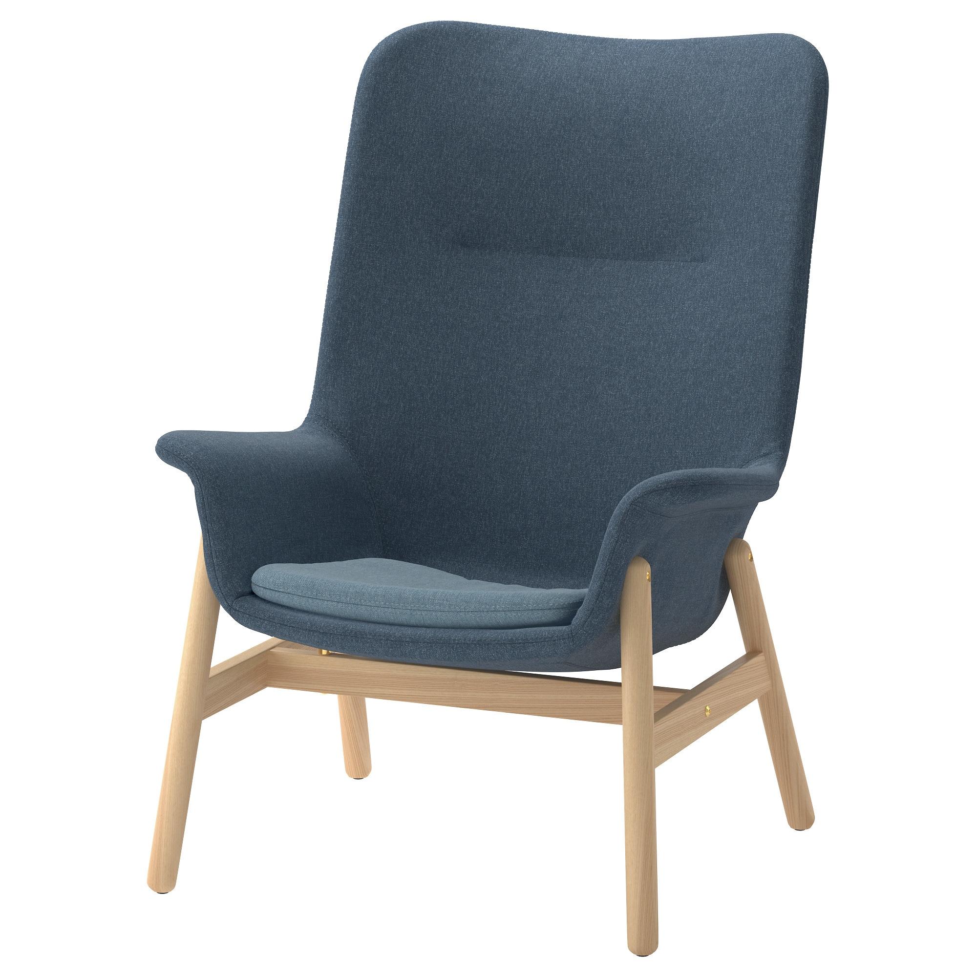 VEDBO Sessel mit hoher Rückenlehne Gunnared blau   Sessel ...