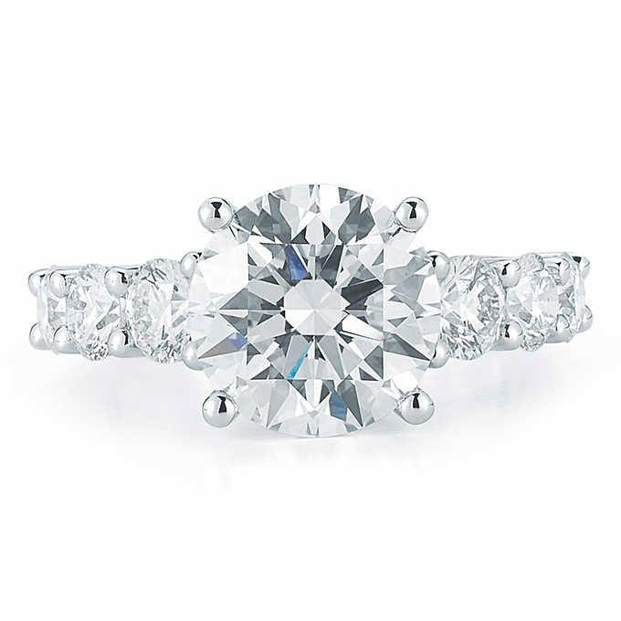 4ffcb6b8f Round Brilliant 3.00 ctw VS2 Clarity I Color Diamond Platinum Ring ...