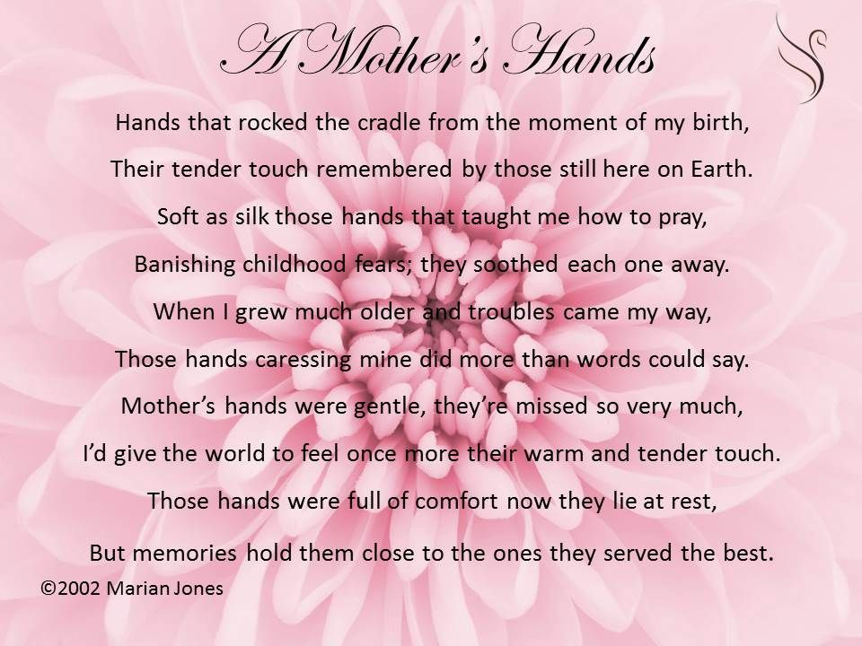 Pin by Swanborough Funerals on Funeral Poems For Mother ...