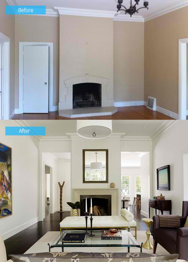 15 Impressive Before And After Photos Of Living Room Remodels | Home Design  Lover