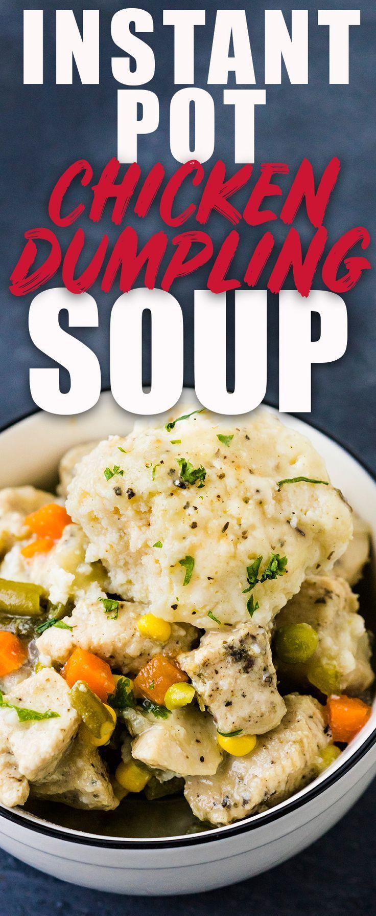 Instant pot chicken dumpling soup recipe instantpotrecipes food instant pot chicken dumpling soup recipe forumfinder Gallery