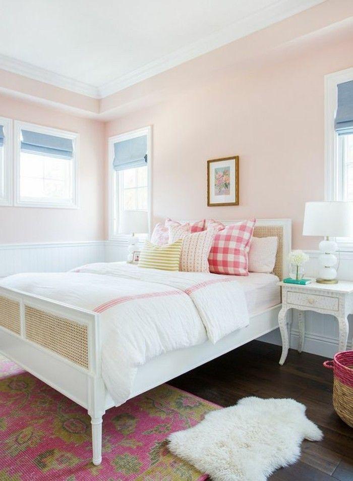 Schlafzimmer Wandgestaltung Mit Farbe Wie Pfirsich