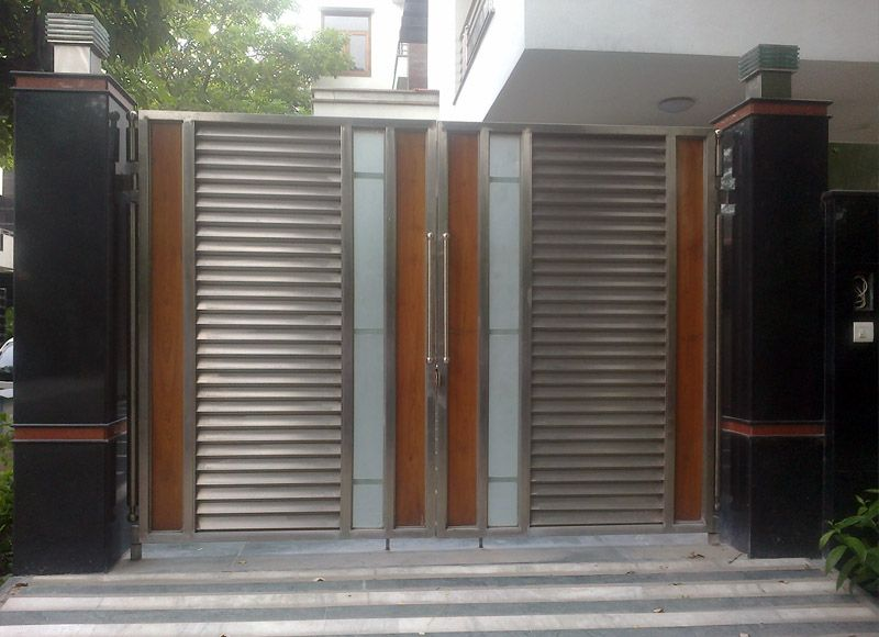 Manufacturer of stainless steel main gates stainless for Main gate door design