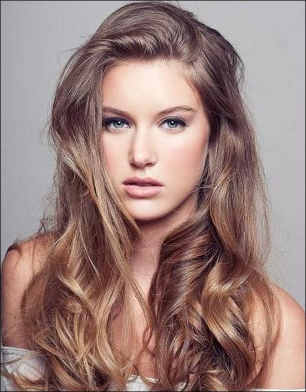 Messy long brown hair with blonde ...   My Style   Pinterest ...