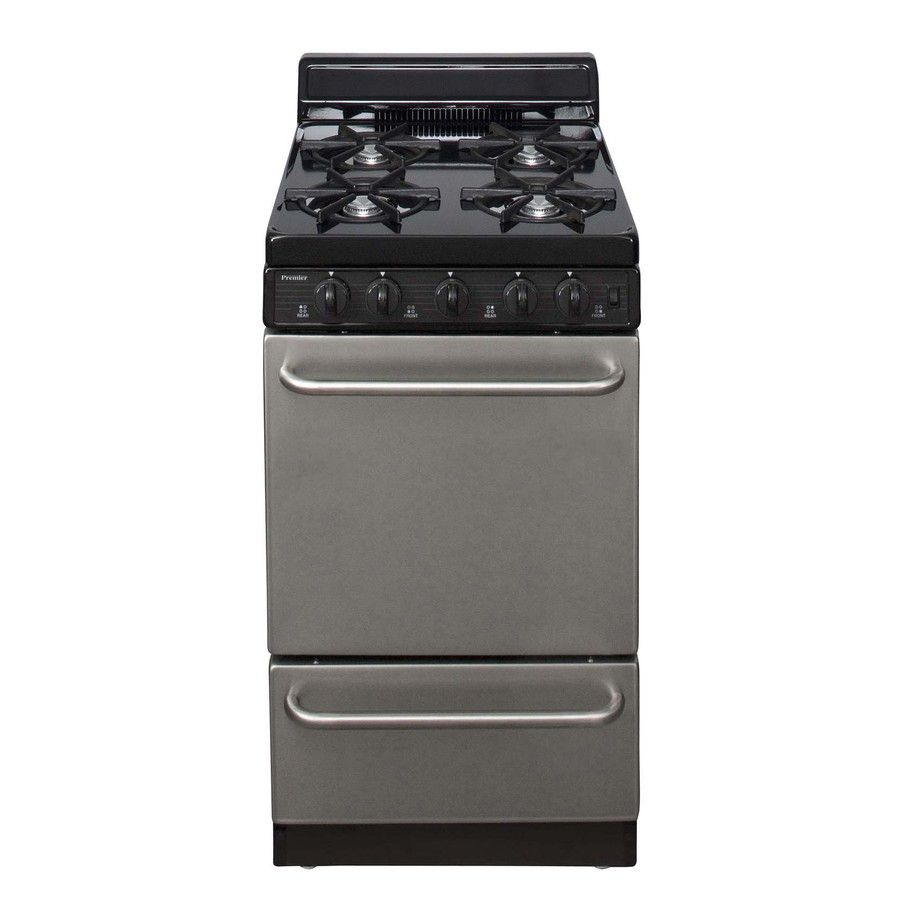 Premier Freestanding 2.4 Cu Ft Gas Range (Stainless Steel) (Common: 20
