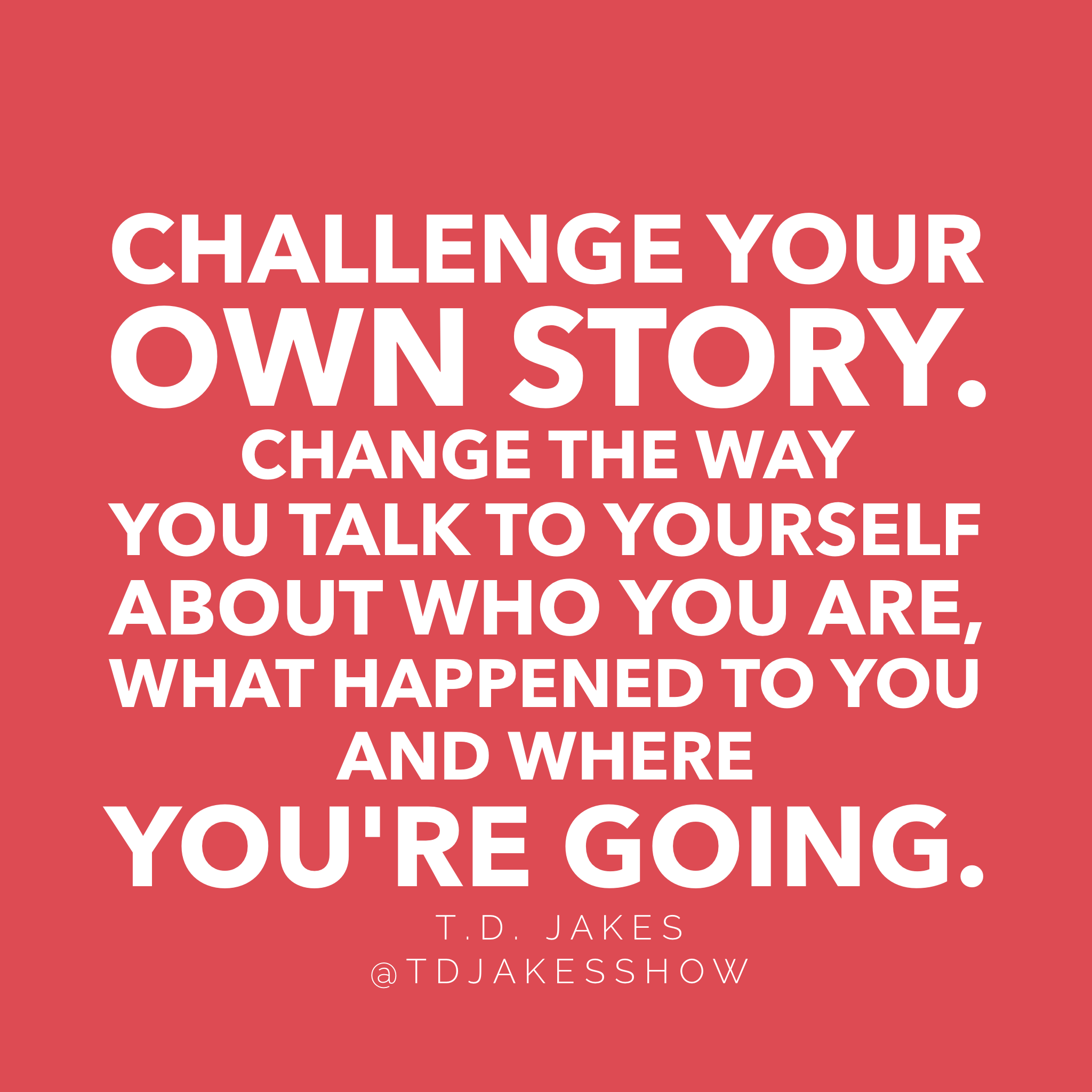 It's time for Tuesday T D  Jakes Challenge! Think you can do