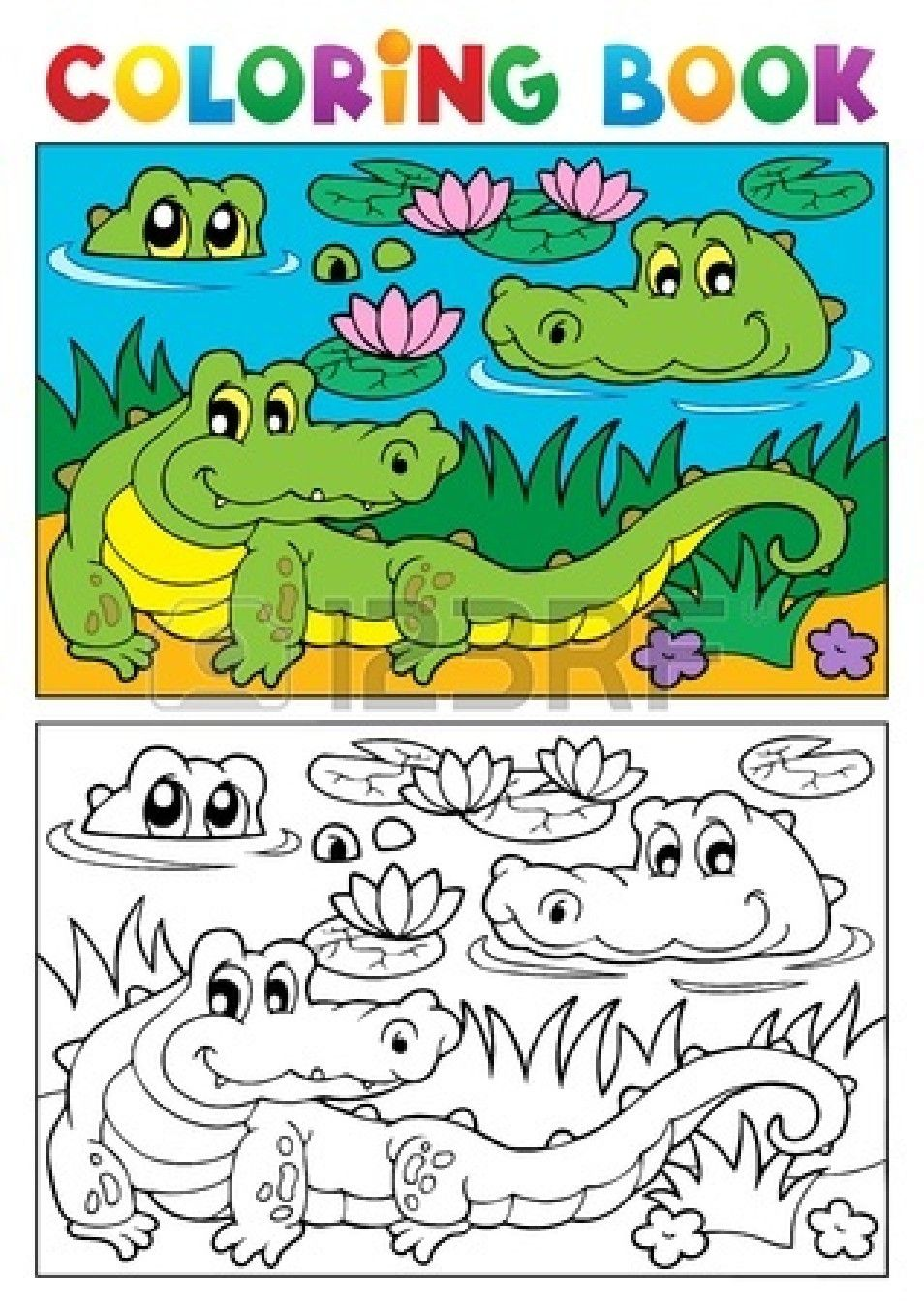 Coloring book crocodile image illustration | Mick | Pinterest ...