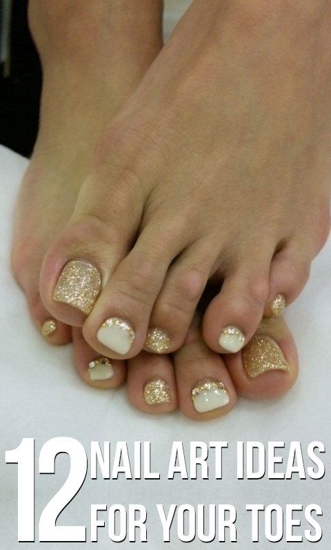 12 Nail Art Ideas For Your Toes Easy Nail Art Nail Design And