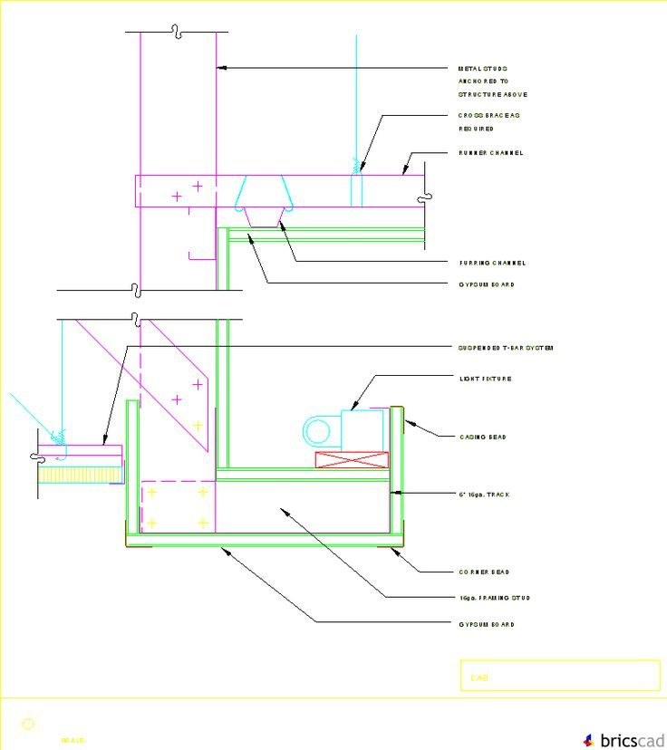 Linear Diffuser Cad Detail : Gyp bd ceiling soffit w light cove aia cad details