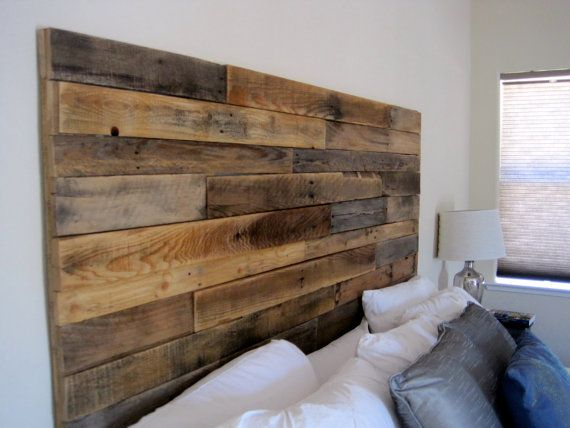 Reclaimed wood headboard pinteres for Recycled headboards