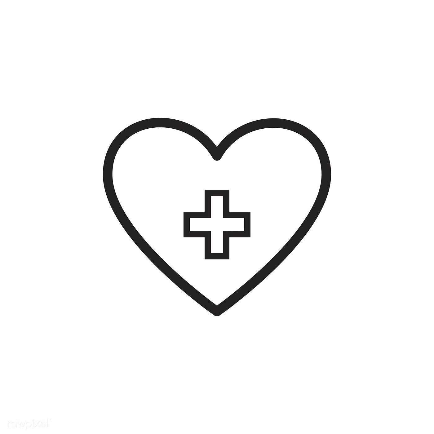 Download Premium Vector Of Healthy Heart Icon Vector 533358 Heart Icons Heart App Human Heart Outline