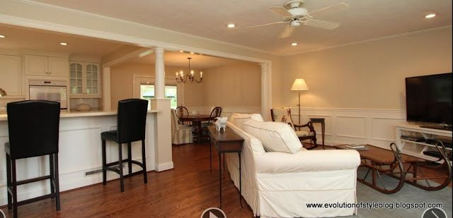Staging To Sell A Case Study In Pictures Evolution Of Style Open Concept House Plans Home Kitchen Remodel Layout