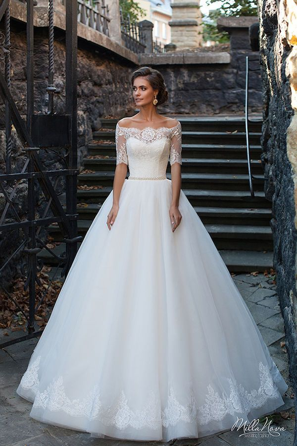 Forget Cap Sleeves And Rock An Off The Shoulder Illusion Wedding Dress Instead Three