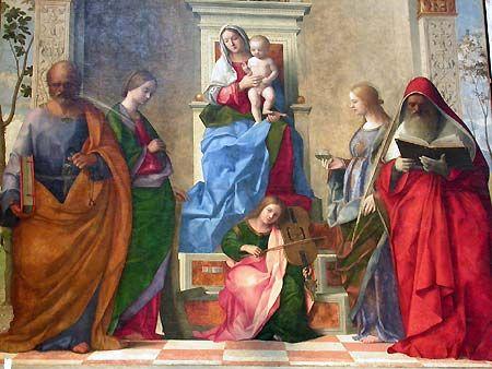 Venecia. Giovanni Bellini y la iglesia de San Zaccaria en Castelo.