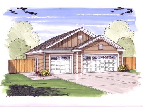 MENARDS 32 x 40 x 9 3Car Garage 11247 6 car tandem – 32 X 40 Garage Plans