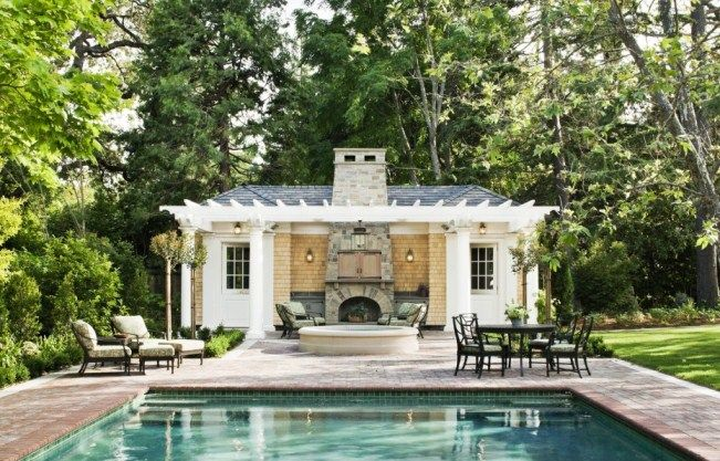 Photos Pool Houses And Tennis Pavilions Pool House Plans Small