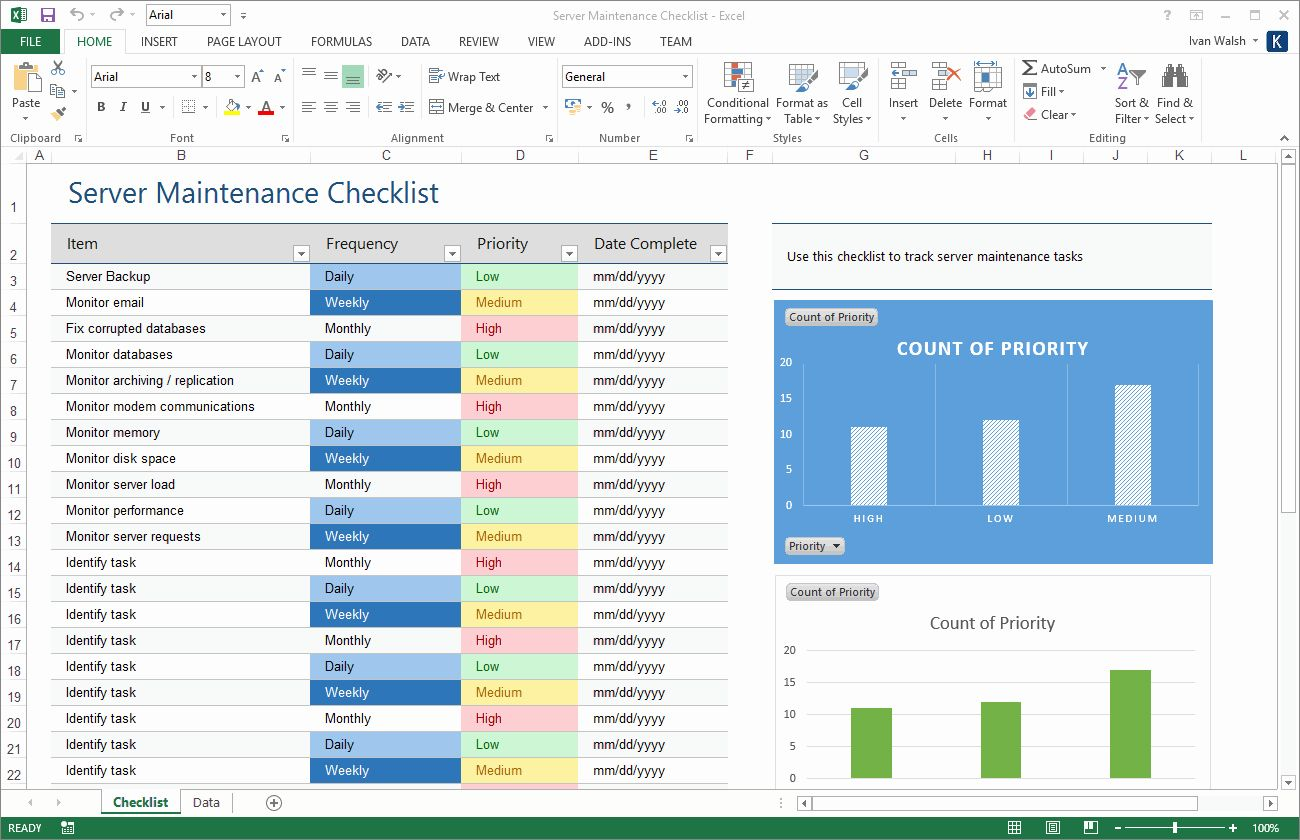 Facility Maintenance Schedule Excel Template Beautiful