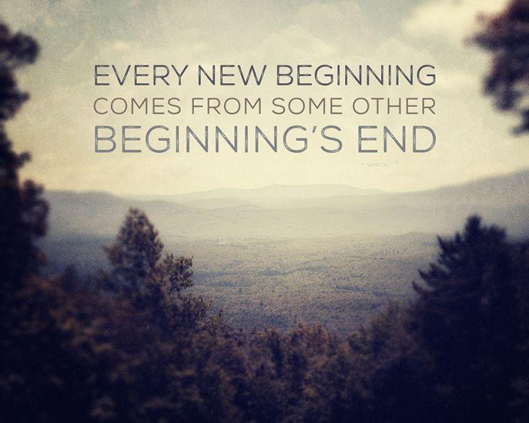 every new beginning | quotation art | www.lisarussofineart.com