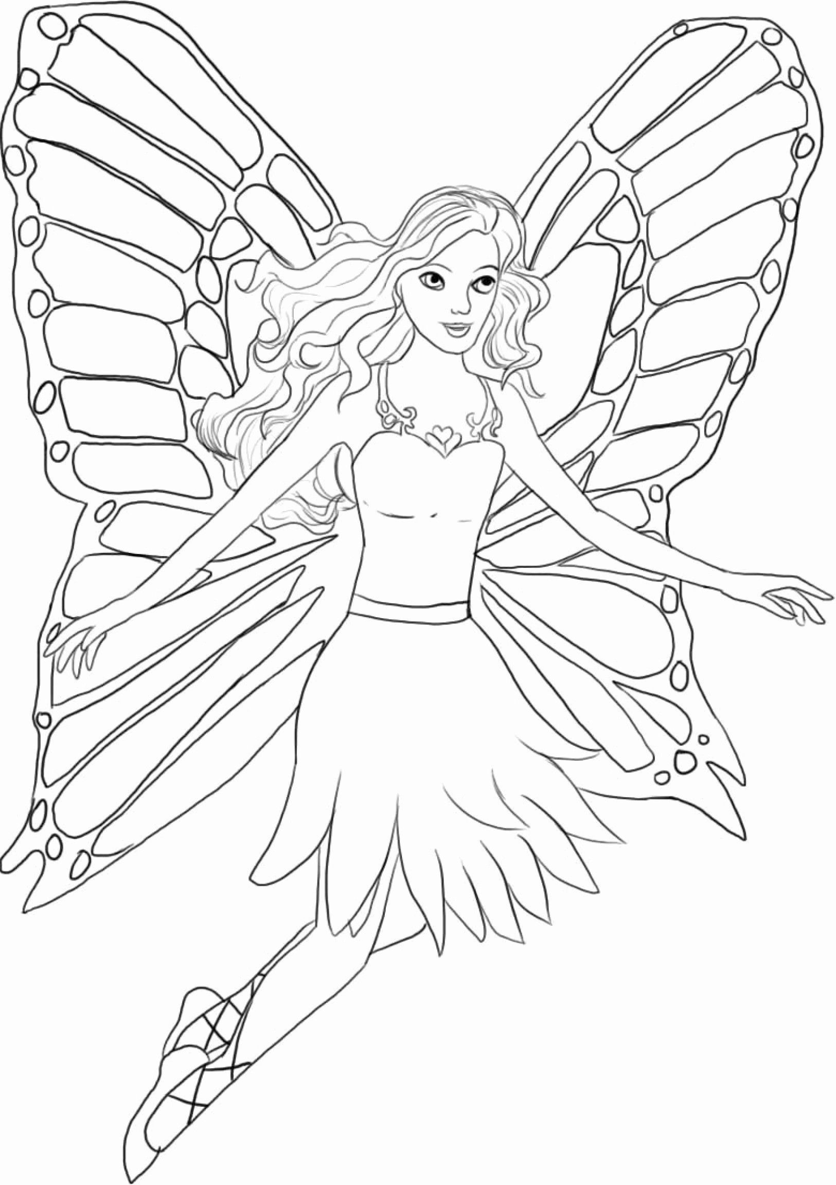 Fairy Princess Coloring Page Youngandtae Com In 2020 Barbie Coloring Pages Fairy Coloring Barbie Coloring