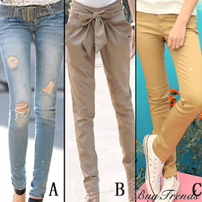 Which one would you choose? A, B or C? :) #rippedjeans #jeans #style #fashion