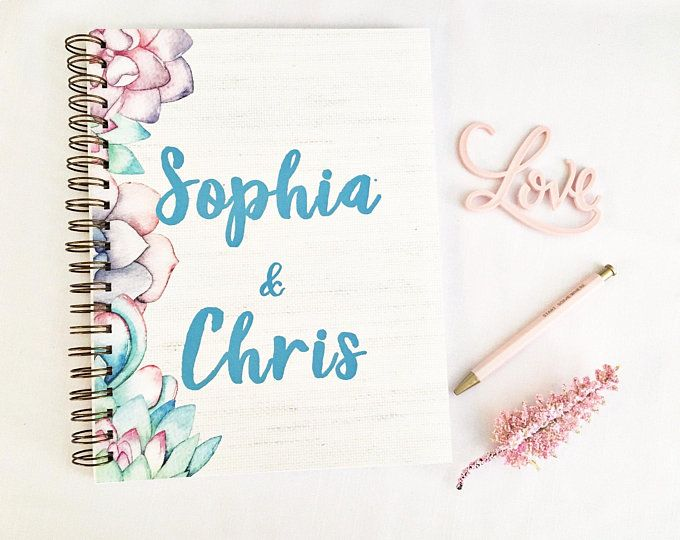 Personalized Wedding Planner Wedding Planner Organizer Wedding