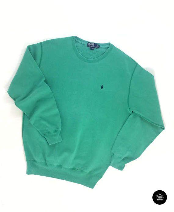 23da213c7 Vintage Green Polo Sweater