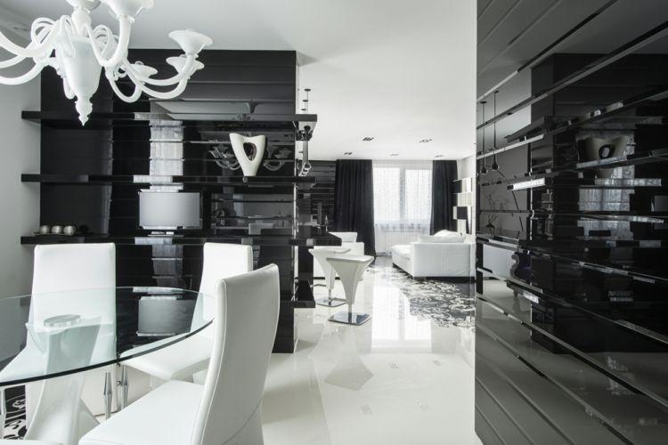 Schwarz im Esszimmer für eine stilvolle und dramatische Einrichtung