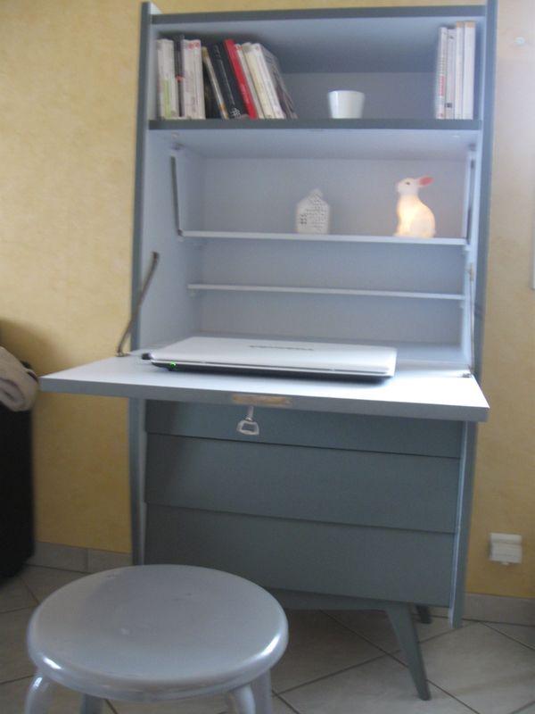 secretaire vintage relook ann es 50 pieds compas relooking de meuble pinterest secretaire. Black Bedroom Furniture Sets. Home Design Ideas