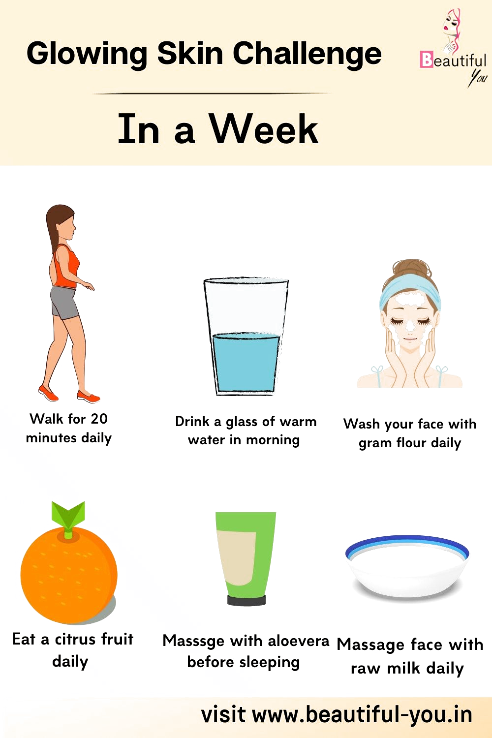 Here Are Simple Tips To Follow To Get A Glowing Skin Naturally At Home In A Week In 2020 Natural Glowing Skin Natural Skin Care Diy Beauty Skin Care Routine