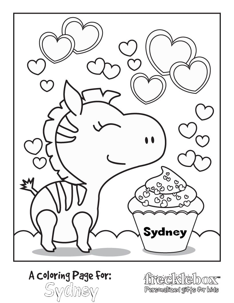 - FREE Personalized Kids Coloring Pages Zebra Coloring Pages