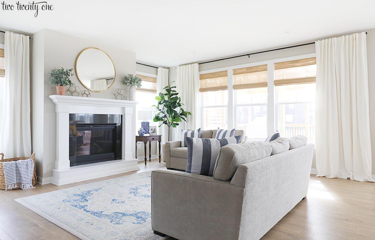Budget Friendly Living Room Window Treatments Window Treatm