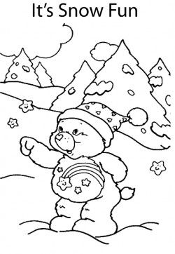 Care Bear Snow Coloring Pages Bear Coloring Pages Coloring Pages Teddy Bear Coloring Pages