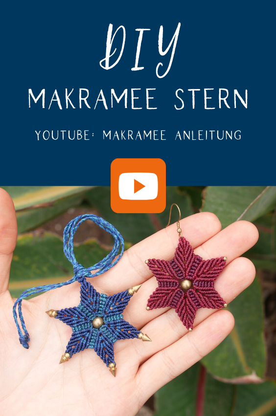 Makramee Stern – DIY Anleitung