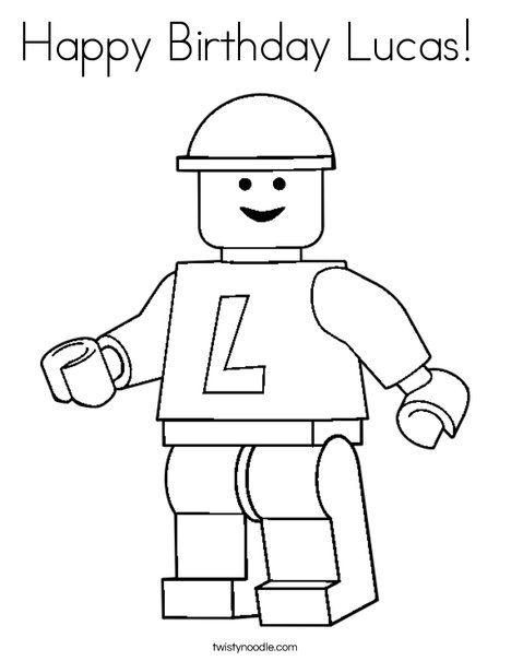 Happy Birthday Lucas Coloring Page Lego Coloring Pages Lego Coloring Birthday Coloring Pages