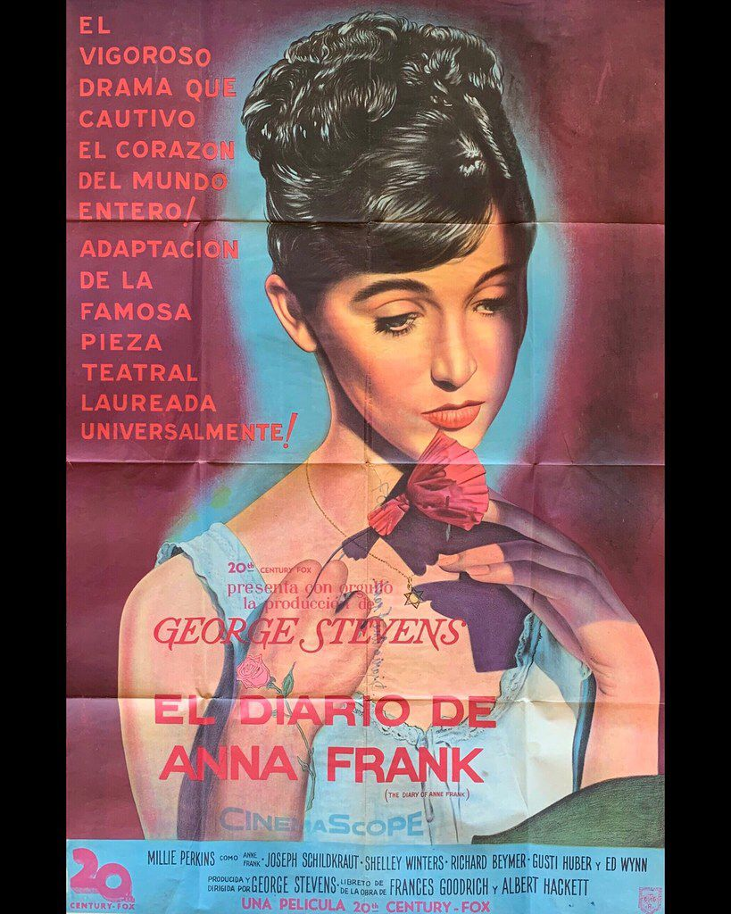 Original Argentinian Movie Poster El Diario De Anne Frank The Diary Of Anne Frank 1959 Film Posters Vintage Movie Posters Anne Frank